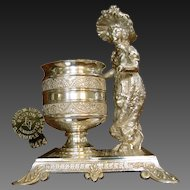 James Tufts Toothpick / Hors d'oeuvres Pick Urn, Kate Greenway Character c.1880's
