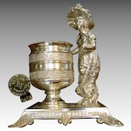Kate Greenway by Tufts, Hors d'oeuvres Pick or Toothpick Urn c.1880's NO MONO