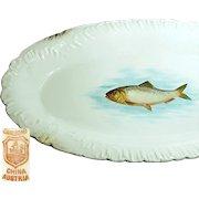 Bawo 'n Dotter's Art Nouveau FISH PLATTER 18 in. Long c.1898