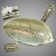 Day in July, 1891 Captured in SILVER-'The City of Angels' Plaza Church a Spoon