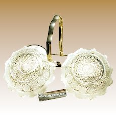 Art Nouveau ENGLISH Footed SWEETMEATS or Double Master Salt Castor c.1900