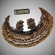 EUGENE Vintage Necklace 'n Earrings, All Glass