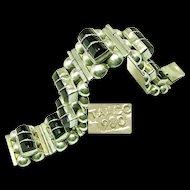 Vintage TAXCO Mexico 980/1000 SILVER Bracelet c.1940's