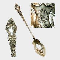 c.1890 UNGER Sterling DOUVAINE Olive Spoon-Pierced Bowl