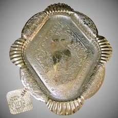 Victorian James W. Tufts Ornate Cherub Footed Tray