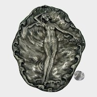 c.1890 JAMES W TUFTS-4175 Tray ~Resting Nymph in Foaming Sea ~in Silverplate