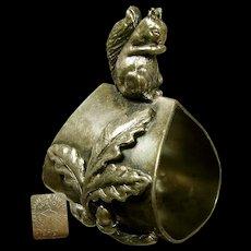 James W. TUFTS Victorian Squirrel Acorns 'n Oak Leaves NAPKIN RING