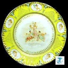 Art Nouveau 3 GRACES 'n CHERUBS Display Plate