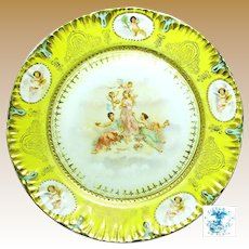 Art Nouveau 3 GRACES 'n CHERUBS Display Plate