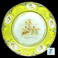 Art Nouveau/Victorian THREE GRACES 'n CHERUBS Display Plate