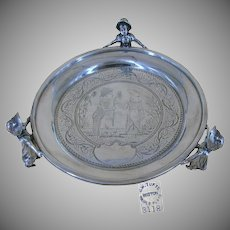 JAMES TUFTS Footed Silver Tray, Kate Greenaway Multi Characters