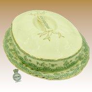 ASPARAGUS Covered Booté (Platter) c.1880, Rare Art Nouveau