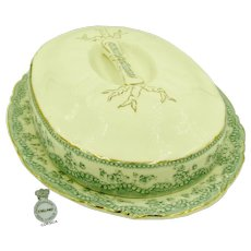 RARE ASPARAGUS Covered Booté (Platter) Art Nouveau c.1880