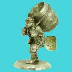 ~JAMES W TUFTS 1517 ~ Greek Barrel Man Napkin Ring ~ Circa 1880's~