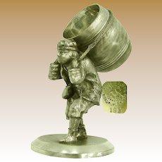 J.W. TUFTS Napkin Ring, Greek Barrel Man c.1880's