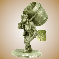 JAMES TUFTS Napkin Ring, Greek Barrel Man c.1880's
