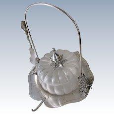 Wilcox Aesthetic Pickle Caster w/ Melon Blown Glass Bowl