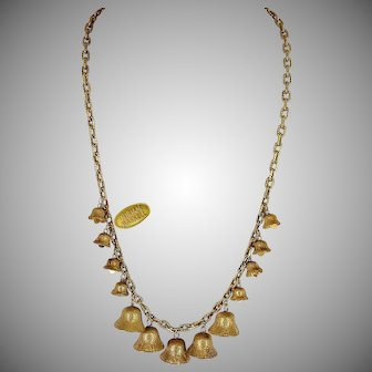 MIRIAM HASKELL Vintage Jingle Bells, Long Necklace