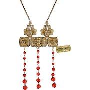 Vintage CastleCliff Necklace, Mayan Gods/Warriors a Larry Vrba Design