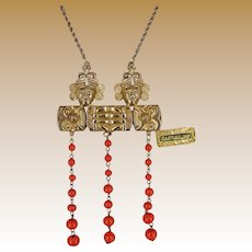 Vintage CastleCliff Necklace, Mayan Warriors, Vrba Design