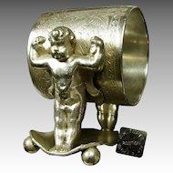TUFTS Baby Hercules Napkin Ring, Victorian NO MONO