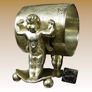 J.W.TUFTS Baby Hercules Napkin Ring, Victorian NO MONO