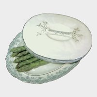 c.1880 ASPARAGUS Boote / Covered Platter-Rare Art Nouveau