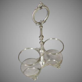 c.1888 TIFFANY & Co. Fancy Wine Caster Stand