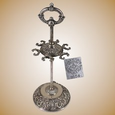 ~James W Tufts 2104 ~ Spoon Rack Holder c.1897 ~ Ornate Scroll Work w/Faces~
