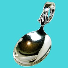 Sterling 'BABY' SPOON ~Jenny Lind Pattern ~Art Deco WEIDLICH c.1938