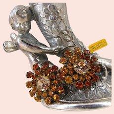 ~MIRIAM HASKELL Vintage Earrings ~ All Glitz Rhinestones ~ Business 'n Dress Wear~
