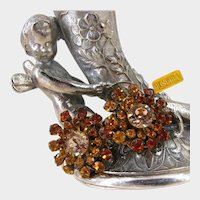 MIRIAM HASKELL Glitz Earrings ~Vintage Rhinestones ~Business & Dress Wear