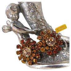 Vintage MIRIAM HASKELL ~Glitzy Rhinestones  ~Dress or Business Wear