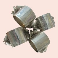 Double EAGLE Design Offered ~2 or 4-Antique S.P. NAPKIN RINGS ~No. 146 Table Ready