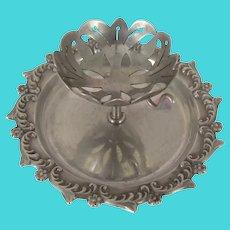 pre-c.1896 Victorian ~TEA BAG / Infuser BALL Holder ~Fancy Sterling Silver