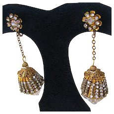 MIRIAM HASKELL ~Famous Chandelier ~Xtra-Long Clips