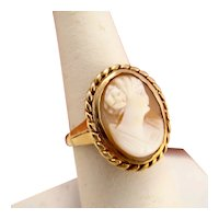 Vintage Cameo 10k Gold Ring