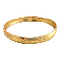 Vintage 10k Yellow Gold Bangle Bracelet