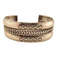 Vintage Sterling Silver Native American Navajoe Cuff Bracelet