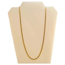 "Heavy Unusual Link 14k Gold Italian Chain Necklace 23""  18.9 Grams"