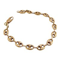14K Yellow Gold Gucci Link Bracelet