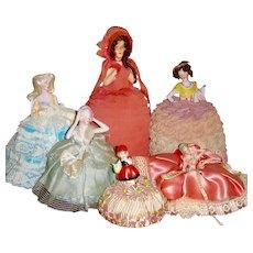 Half Doll Pin Cushion Wig Doll Collection