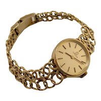 Omega 14k Solid Gold Vintage Ladies Champagne Dial Manual Watch