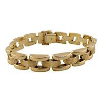 14k Gold Vintage Panther Link Bracelet