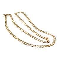 "Long 28"" Vintage 10k Gold Cuban Curb Link Chain 28 grams"