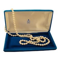 """Vintage Opera AA Akoya Cultured Pearls 6.6.5 mm Necklace 31"""""""