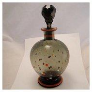 Vintage French Art Deco Enamel Polka Dot Large Perfume