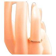 Estate Art Deco 14k Gold Diamond Ring Band