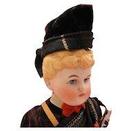 Antique Alt Beck & Gottschalk Bisque Parian Scottish Boy Doll