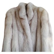 Estate  Full Length Arctic Silver Fox Fur Coat Size S M  Minty